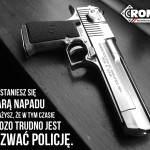 Przestępstwa z użyciem broni palnej nie da się powstrzymać dzwoniąc po Policję