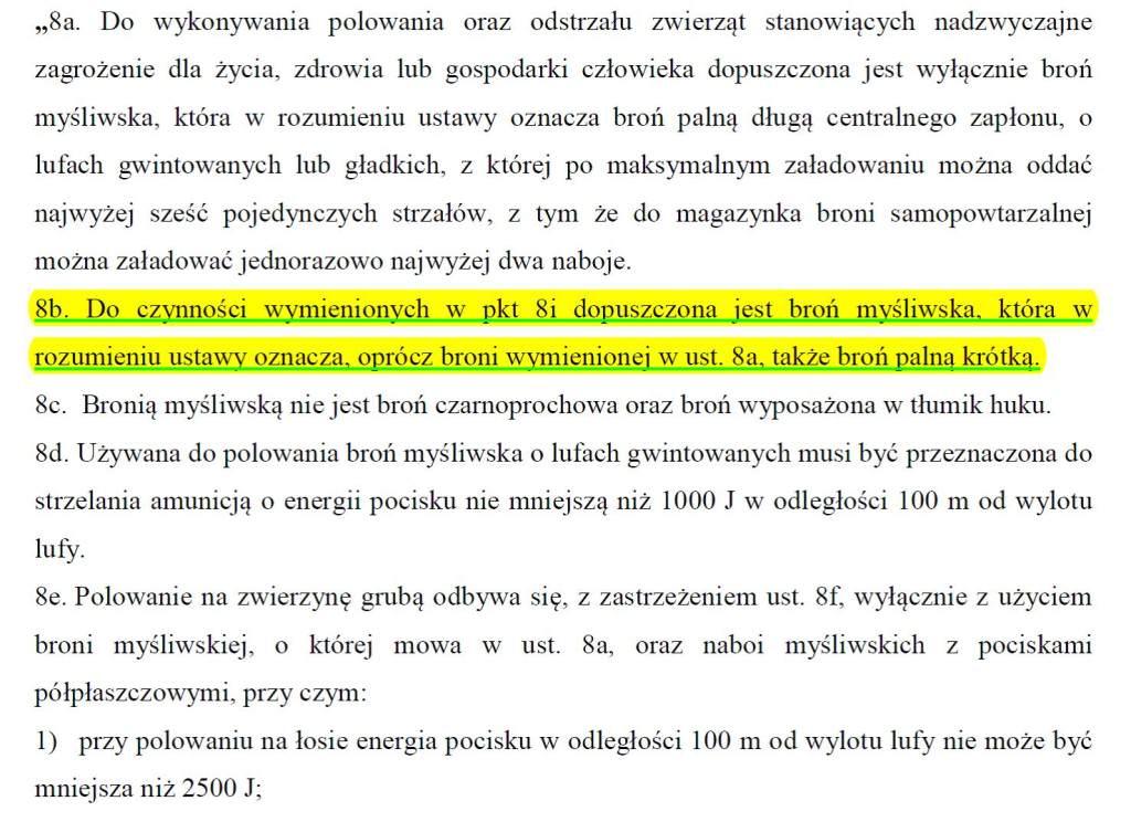 Bron palna w projekcie zmiany Prawa lowieckiego | Andrzej Turczyn