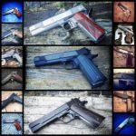 Wystawa broni palnej, przedstawiam pistolety wz. 1911.