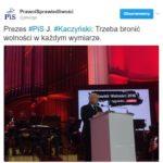 """Jarosław Kaczyński laureatem nagrody """"Człowiek Wolności 2016"""", a ja napiszę o moim pojmowaniu wolności, może kto przeczyta."""