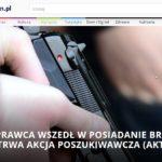Policjant zgubił w Poznaniu pistolet