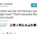 Prezydent USA Donald Trump wywołuje temat dostępu do broni w kontekście islamskich zamachów