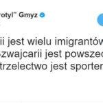 """Cezary """"Trotyl"""" Gmyz na Twitter o broni palnej"""