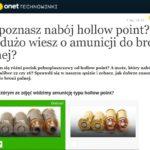 Onet Technowinki quiz o amunicji i karabinach – warto odnotować