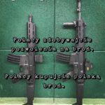 Poszedłem dzisiaj na klubową strzelnicę i mam przesłanie: Polacy zdobywajcie pozwolenia na broń, Polacy kupujcie polską broń!