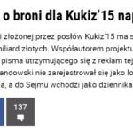 Jestem pierwszy, który będzie bronił dobrego imienia autora ustawy o broni i amunicji Jarosława Lewandowskiego