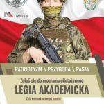 """Kilka tysięcy studentów chętnych do """"Legii Akademickiej"""""""