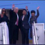 Prezydent Donald Trump przybył do Japonii, rozpoczął pierwszą wizytę w Azji
