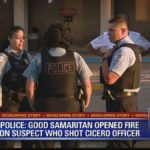 Licencjonowany posiadacz broni pomagał policjantom w strzelaninie z przestępcą