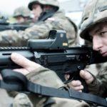 Broń Terytorialsów tylko z celownikiem holograficznym