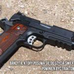 Z cyklu broń ratuje życie: dwóch uzbrojonych bandytów napadło na dom, spotkanie  z uzbrojonym domownikiem przeżył jeden