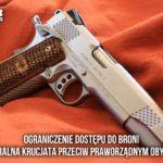 Debata o broni palnej, powinna toczyć się bez udziału byłych milicjantów