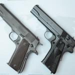 Porównanie rozwiązań konstrukcyjnych pistoletów Colt 1911 i Vis wz. 35.