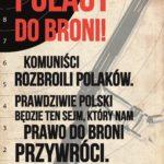 Prawdziwie polski będzie ten Sejm, który nam prawo do broni przywróci.