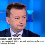 """Minister Mariusz Błaszczak: """"nie wyraziłem zgody na rozbrajanie Polaków""""."""