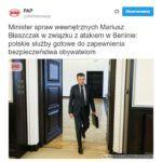 Mariusz Błaszczak plecie, w obliczu wzmożenia islamskiego terroru, cały czas te same głupoty.