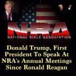 Prezydent Donald Trump manifestuje swoje poparcie dla powszechnego prawa do broni