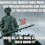 Praworządni obywatele w Stanach posiadają ponad 600 milionów sztuk broni
