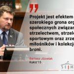 Bartosz Józwiak: projekt ustawy o broni wypracowany w dyskusjach środowisk prostrzeleckich