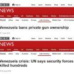 Wenezuela: 1.06.2012 r. rząd zakazuje cywilom broni – 22.06.2018 r. rządowe siły bezpieczeństwa strzelają do obywateli