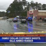 Z cyklu  broń ratuje życie: klient sklepu powstrzymał rozbój i uratował wielu ludzi, bo był uzbrojony i miał prawo strzelać do przestępcy