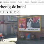 """Rzeczpospolita: Zachęcają do broni – artykuł o bilbordowej akcji społecznej """"Broń ratuje życie"""""""