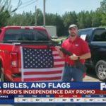 Diler samochodowy z Alabamy rozdaje klientom zestawy złożone ze strzelby, Biblii i amerykańskiej flagi – oto wolna i prawdziwa Ameryka!
