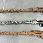 Destrukty karabinów MG 34 (Maschinengewehr 34) znalezione w przesyłce