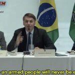 """Prezydent Brazylii Jair Bolsonaro: """"Moje sztandary to rodzina, Bóg, Brazylia, broń, swoboda wypowiedzi, wolny rynek"""""""