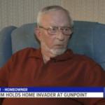 """Z cyklu broń ratuje życie: 72-letni mężczyzna trzymał """"na muszce"""" pistoletu włamywacza aż do przybycia policji"""