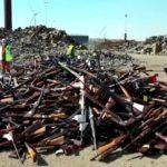 W Belgii ponad 22 tys. egzemplarzy broni przetopiono na 60 ton stali