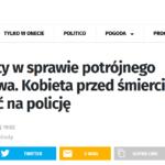 Skuteczność policyjnej pomocy w momencie ataku przestępcy: kobieta przed śmiercią zdążyła zadzwonić na policję